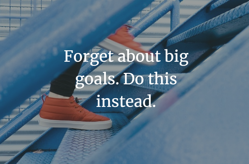 Forget About Big Goals. Do This Instead.